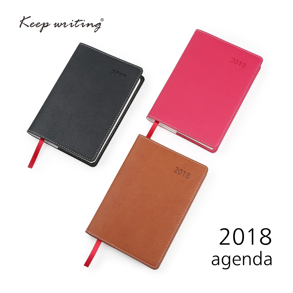 2018 Calendar Weekly Planner A6 Diary Notebook 106 sheets 80gsm paper school stationery small agenda Journal notes pocketbook 2018 week on one page with lined notes planner agenda 91 sheets 100gsm paper stationery journal 12 months calendar notebook
