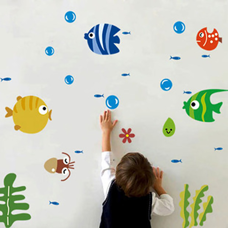 Lovely Fish Wall Stickers For Kids Child Living Room Decorating Kids Room  Wall Stickers Nursery Home Decals Poster In Wall Stickers From Home U0026  Garden On ...