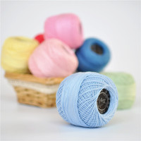 200g Lot 100 Cotton Lace Yarn Line Mercerized Cotton Crochet Spun Yarn For Knitting Pure Color