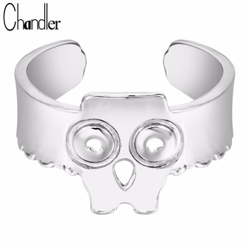10pcs Silver Gold Platinum Plated Cute Mikey Mouse Skull Rings Adjustable Metal Animal Jewelry Ifinity For Women Accessaries