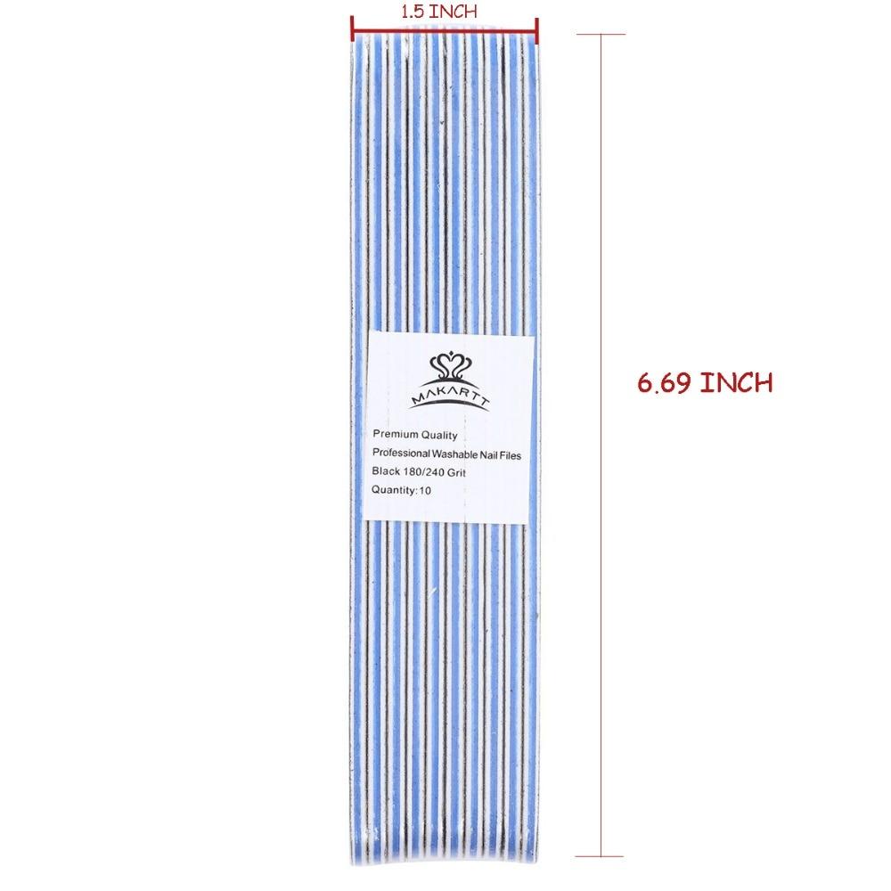 MAKARTT 10 teile/paket Nagelfeilen Dip Pulver Waschbar Doppelseitige ...