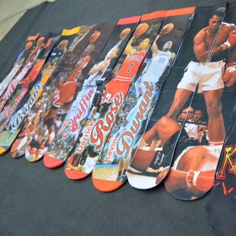 2018 New Brand Socks High-Grade Fashion harajuku 3d Printed Cotton socks Men Hip Hop Skateboard Coolmax Man Socks