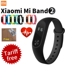 Original Xiaomi Mi Band 2 Smart Fitness Bracelet watch Wristband Miband OLED Touchpad Sleep Monitor Heart Rate Mi Band2 Freeship
