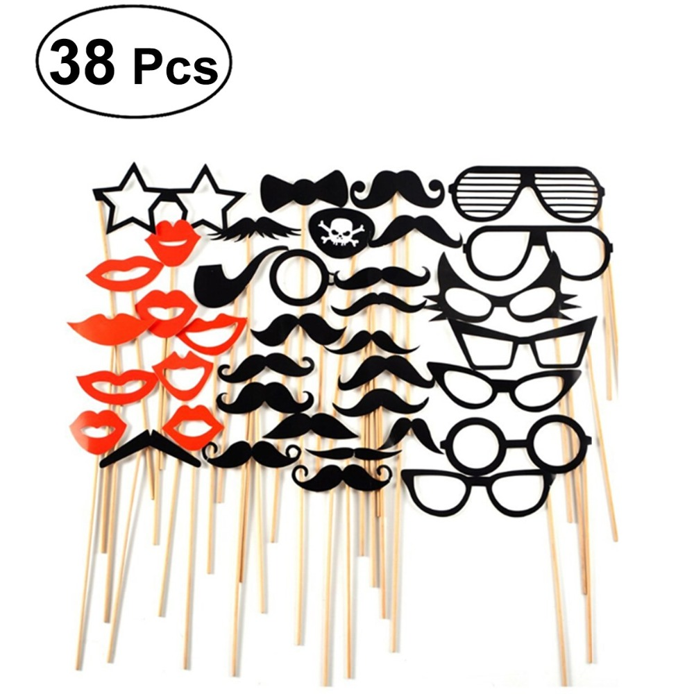 Party Photo Booth Props Masks Hat Mustache Lip Photobooth Props Wedding Party Decoration Birthday Party Favor