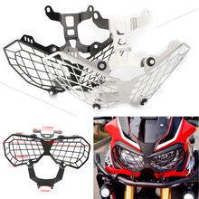 Motorcycle Headlight Lens Guard Protector Cover for HONDA CRF1000L AFRICA TWIN 2016 2017 2018 Stainless Steel