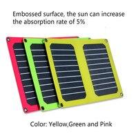 Semi flexible thin film solar charging jewels efficient 10.6W slim phone fast charge portable folding solar panels 5V