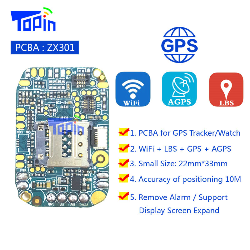 ZX301 GPS Tracker GSM GPS+AGPS+LBS+Wifi PCBA Mother Board Program Development for GPS Positioning Locator Android Smart Watch