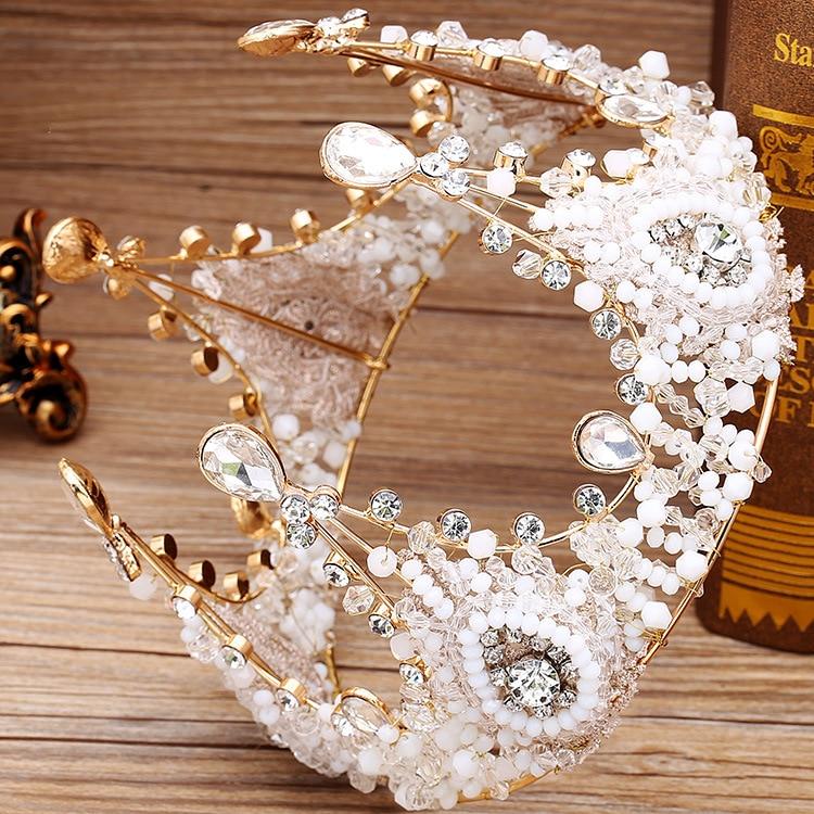 Manik-manik buatan tangan bulat, Eropa besar mahkota bulat, Kaca - Perhiasan fashion - Foto 3