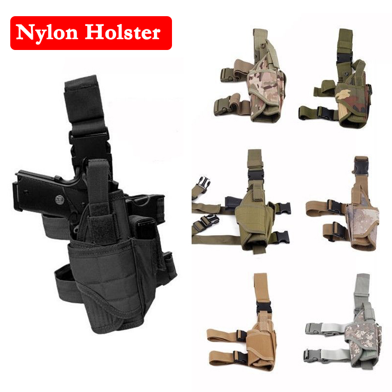 Tactical Tornado Nylon Holster Airsoft Hunting Drop Leg Right Handed Holster Universal Pistol Glock 17 Beretta M9 Gun Holster blackhawk tactical gun holster level 3 holster glock with flashlight pistol holster