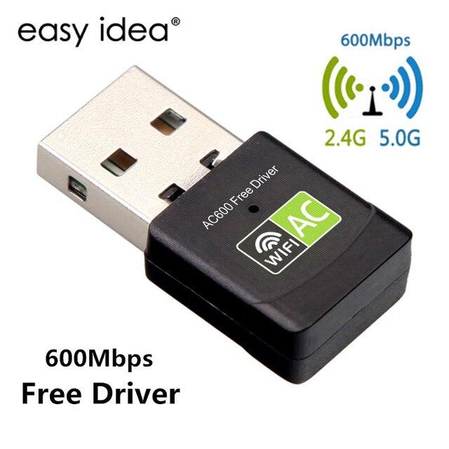 משלוח נהג USB Wifi מתאם 600 Mbps Wi fi מתאם 5 ghz אנטנת USB Ethernet מחשב Wi-Fi מתאם Lan Wifi dongle AC Wifi מקלט