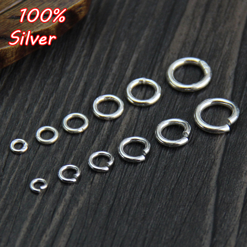 10pcs 925 Sterling Silver Round Open Split Jump Rings/Closed Rings Jewelry Findings DIY Bracelet Neckalce Jewelry Making