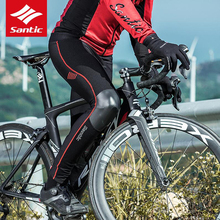 цены на Santic Men Cycling Pants Autumn Winter Long Bike Pants Quick Dry Anti-sweat Breathable Bicycle Trousers Cycling Clothing  в интернет-магазинах