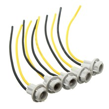 5Pcs T10 Connector 12CM W5W 168 194 Car Lamp Cable Auto Bulb Wire Truck Light LED Bulbs Socket Wedge Light Base For Cars