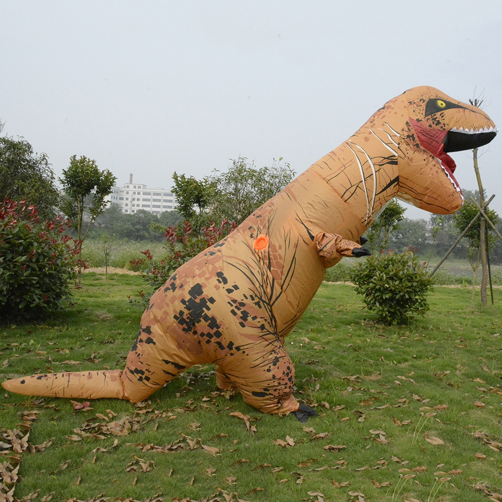 цены Inflatable Dinosaur Costumes for women Blowup T-Rex Dinosaur Halloween Inflatable costume mascot Party costume for adult