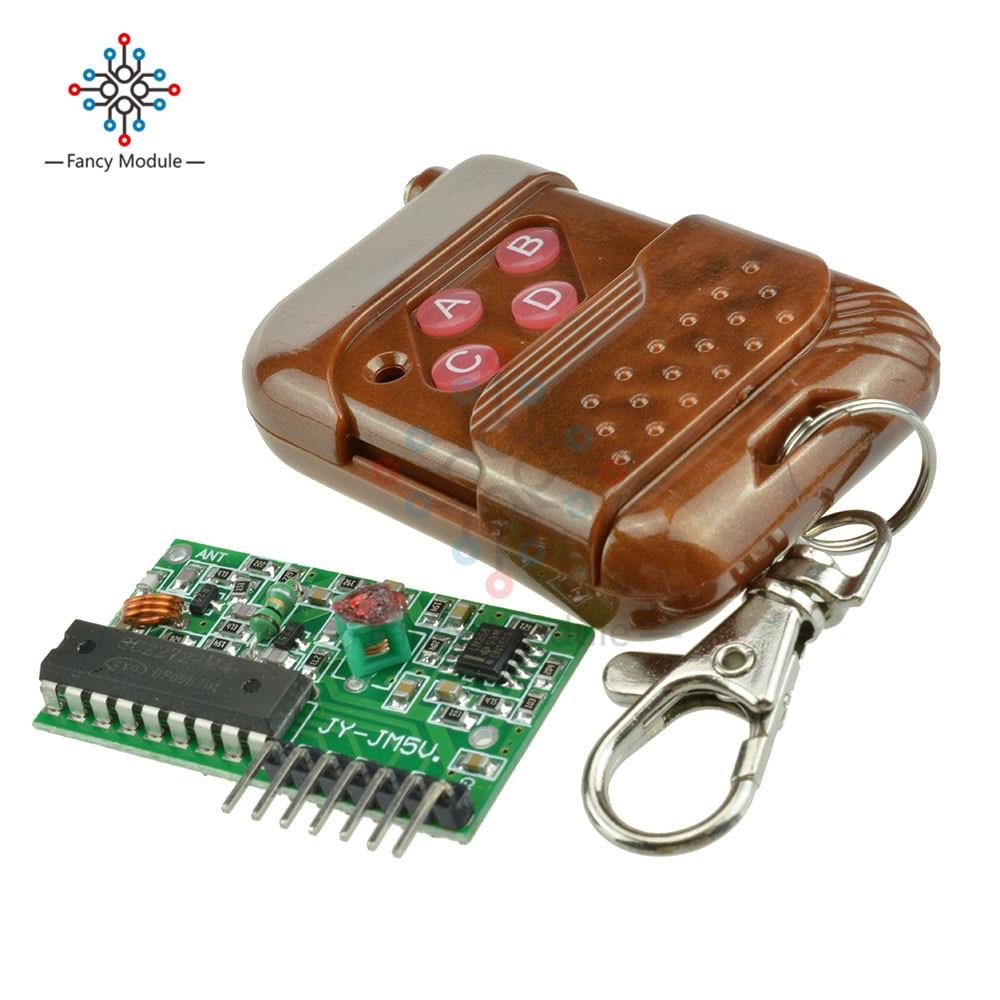 IC2262//2272 4 Channel 433MHZ Wireless Remote Control Kits 4 key Wireless Remote