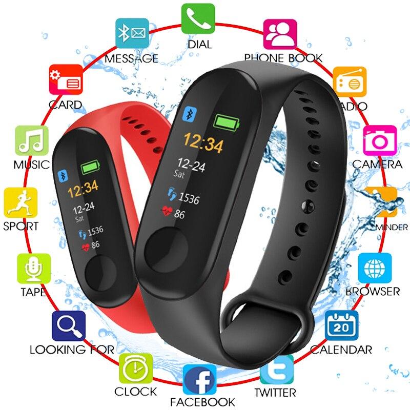 Écran couleur montre intelligente Sport Fitness Bracelet IP68 étanche pression artérielle oxygène activité Tracker pour hommes femmes montres M3