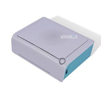 Impresoras Fotográficas Portátiles | 220V Portátil Mini Impresora De Bolsillo Inalámbrico Bluetooth Compatible Con Android IOS Smartphone Impresión En Color Azul Velocidad De Impresión 50s