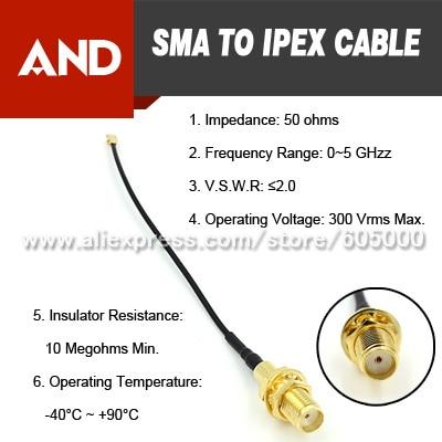 imágenes para SMA a U. FL Pigtail Cable, Asamblea puente
