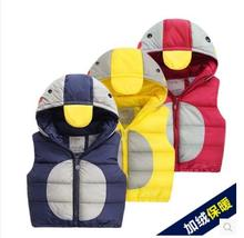 Girls Boys Down Jacket Vest Winter 2016 New Girl Winter Coats Children Duck Down Coats and Jackets Boys Hooded Outerwear Coats