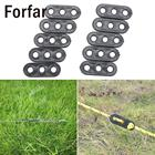 Forfar 10Pcs Camping Tent Guy Rope Line Tensioners 3Holes Bent Runners Outdoor Awning