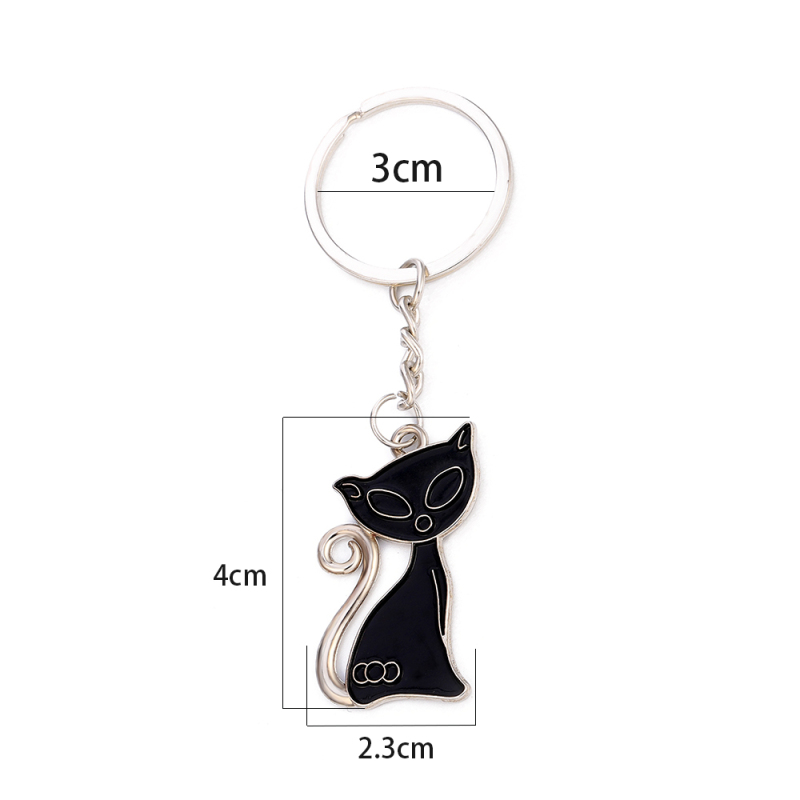 Cute Couple Cat Lover Keychains