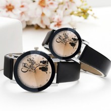 Classic Minimalist Quartz Watch Student Couple Stylish Spire Glass Belt wristwatches Lovers Casual simple Clock hours
