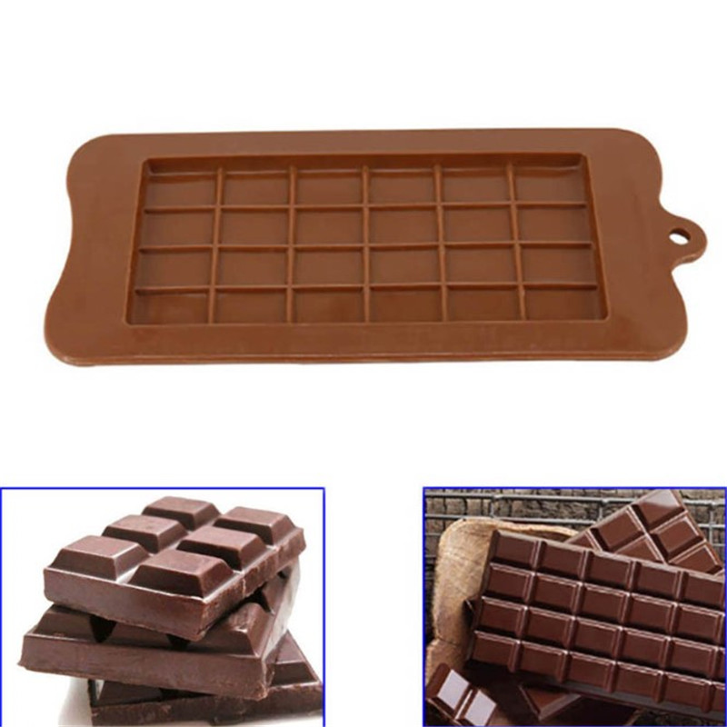 VOGVIGO Chocolate Mold 24 Cavity Cake Bakeware Kitchen Baking Tool Silicone Candy Maker Sugar Mould Bar Block Ice Tray Cake Tool image