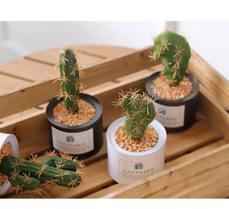 Artificial Plants Ornament Houseplant Cactus Decoration Fake Grass Bonsai Artificial Succulents For Indoor House Plants Bonsai in Artificial Plants from Home Garden