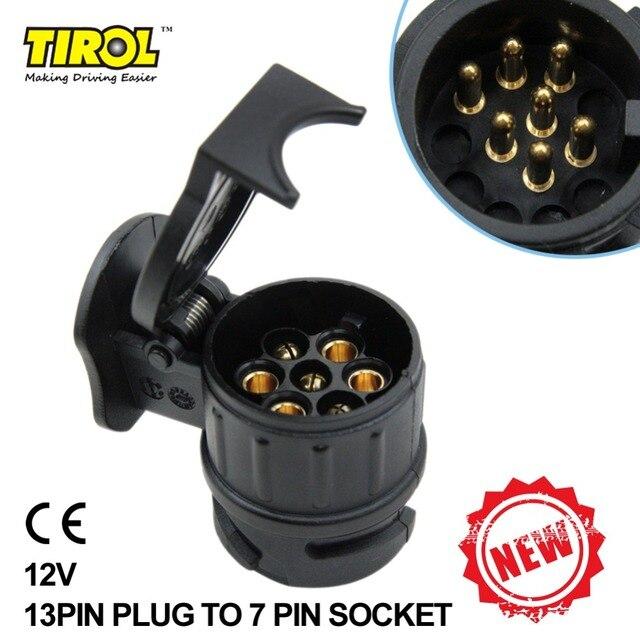 TIRO 13 Zu 7 Pin Anhänger Adapter Schwarz matt materialien Anhänger ...