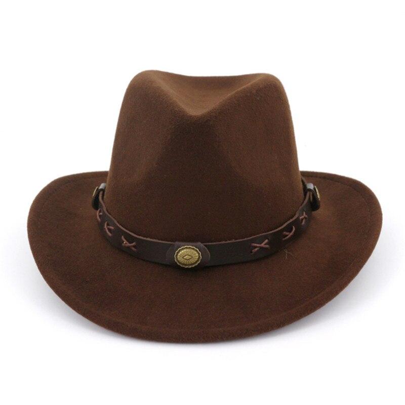 LUCKYLIANJI niños Cool nuevos Trilby lana sentía Fedora país Cowboy ... 33bb04c4626