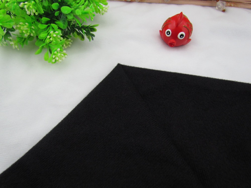 9199# Black Color Loop Fleece fabric can stick by Magic tape/DIY patchwork Stuffed toys sofa  brushed velboa velvet(1 meter)