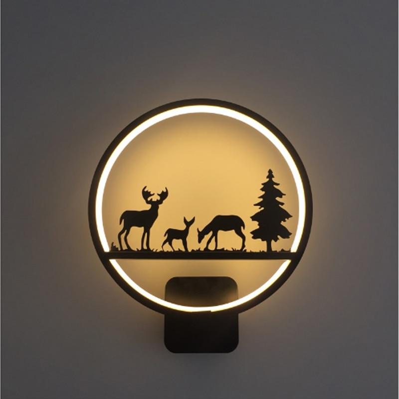 Vintage Wrought Iron Wall Sconces Creative Children's Room Wall Lights for Home Lighting Modern LED Wall Lamp Black Sconce Retro джинсы urban bliss urban bliss ur007ewgti46