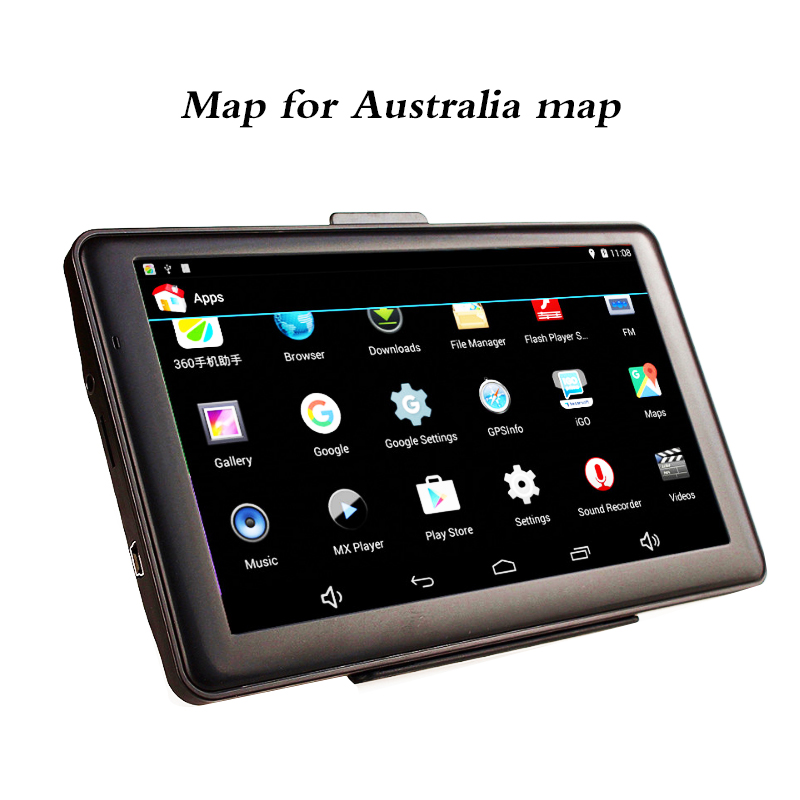7 Car Android Capacitive Touch Screen GPS Navigation Australia map Bluetooth Vedio WIFI AV-IN ultra thin 7 touch screen lcd wince 6 0 gps navigator w fm internal 4gb america map light blue