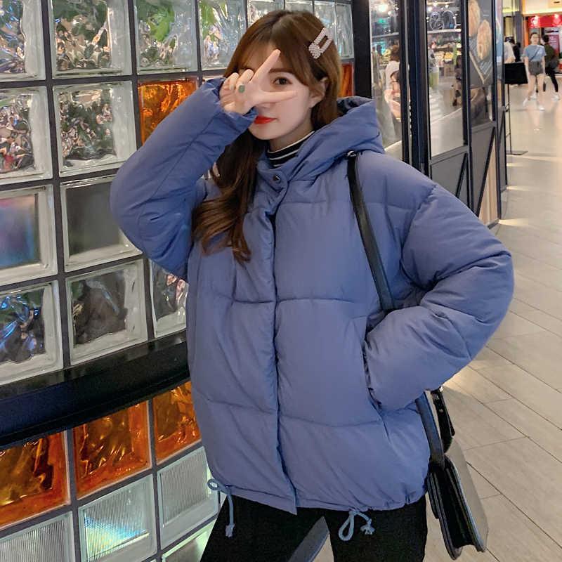 スタンド襟 2019 新到着の女性の冬ジャケットブレストボタン女性入りショートパーカー生き抜くコート