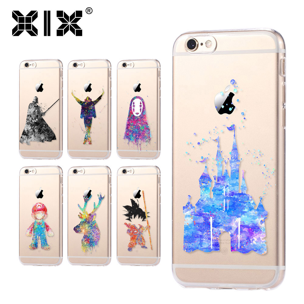 For fundas iPhone 5S case 5S 6 6S 7 Plus castle soft silicone TPU cover 2016 new arrivals original for coque iPhone 6S case