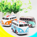 Cartoon small bus,Q version toy car,1:32 mini alloy pull back cars model,Camouflage bus, classic car,free shipping