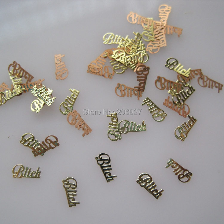 MS207-2 100pcs Gold Cute Metal Sticker Nail Art Metal Sticker Nail Art Decoration Non-adhesive Sticker