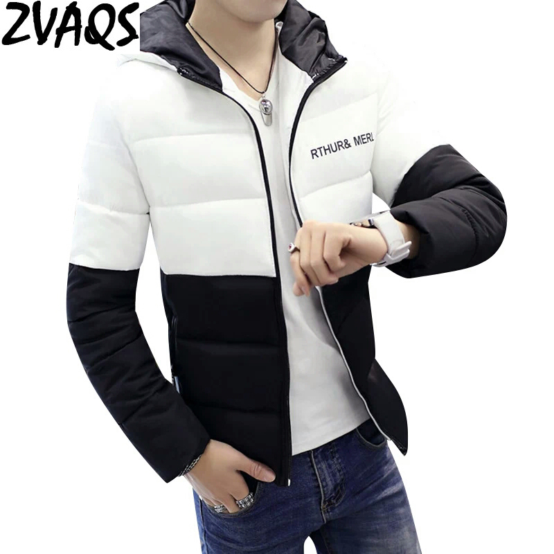 ZVAQS 2018 Hot Selling Men's Winter Jackets & Coats Hooded Slim Cotton-Padded Men Parkas High Quality Male Brand Clothing ST388