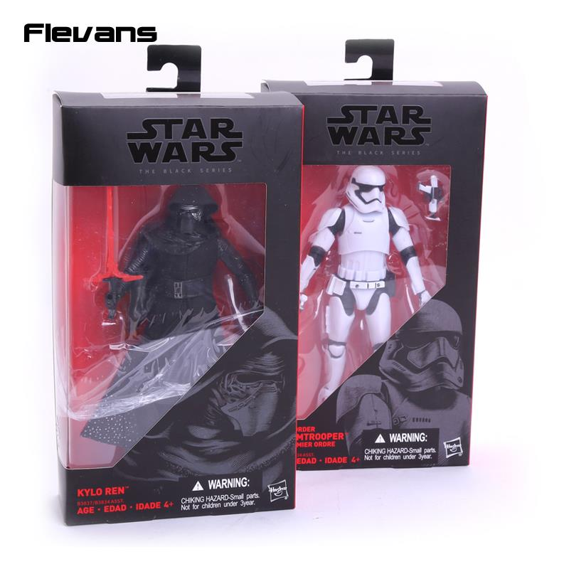 Star Wars 7 The Force Awakens The Black Series Kylo Ren Stormtrooper PVC Action Figure Collectible Model Toy 16cm shfiguarts batman injustice ver pvc action figure collectible model toy 16cm kt1840