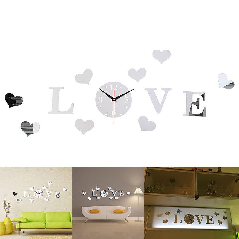 DIY 3D зеркальные настенные наклейки настенные часы художественная роспись домашний Декор Гостиная ТВ Фоновые наклейки настенные часы кварцевые иглы