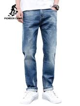 بايونير كامب جينز للرجال منتظم صالح السراويل الجينز الكلاسيكية الذكور الجينز التطريز بنطلون عادية مستقيم الدينيم السراويل ANZ908094