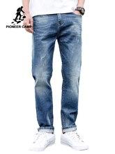 פיוניר מחנה ג ינס עבור Mens רגיל Fit מכנסיים קלאסי ג ינס זכר ג ינס רקמת מכנסיים מזדמנים ישר ג ינס מכנסיים ANZ908094