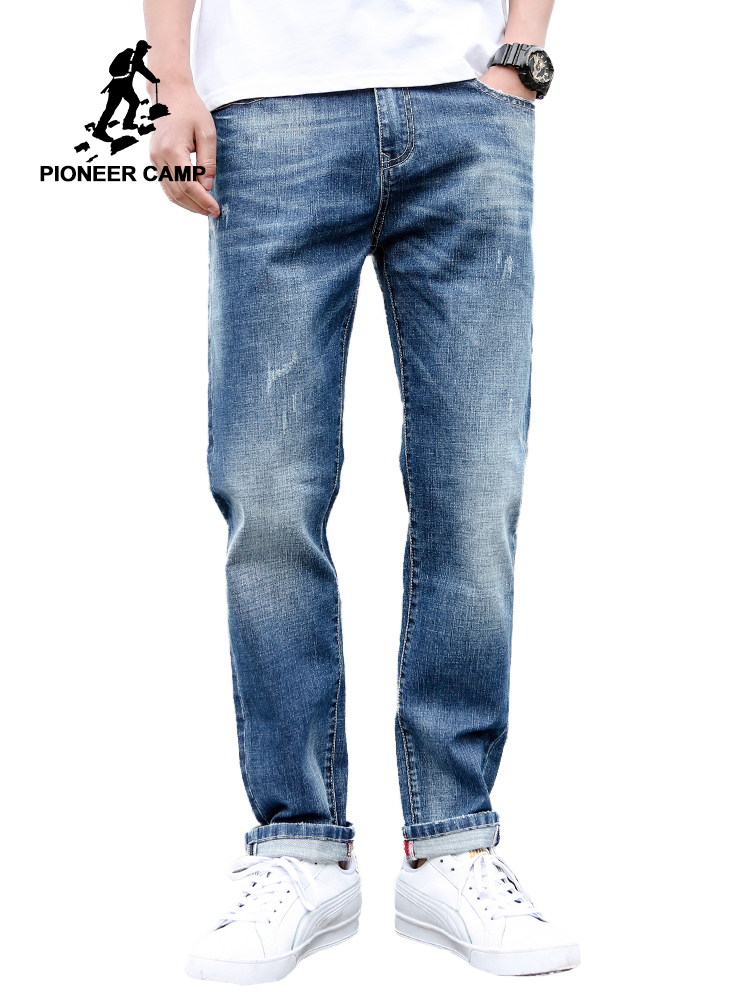 Pioneer Camp Jeans For Mens Regular Fit Pants Classic Jeans Male Jeans Embroidery Trousers Casual Straight Denim Pants ANZ908094Jeans   -