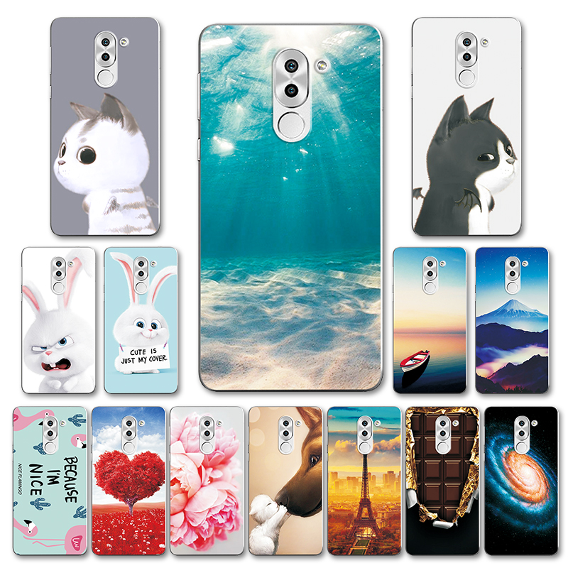 Cute Various Painted Case For Huawei Honor 6X Flower Back Cover For Huawei GR5 2017 5.5