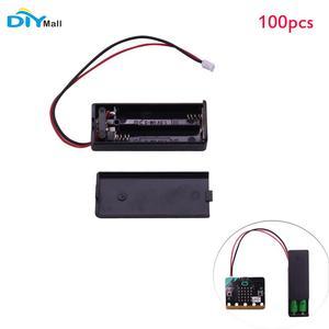 Image 1 - 100 adet/grup pil kutusu tutucu kapak kabuk 3V PH2.0 Interface14cm kablosu için mikro: bit 2 adet AAA pil DIYmall
