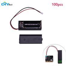 100 stücke/lot Battry Fall Halter Abdeckung Shell 3V PH2.0 Interface14cm Kabel für micro: bit 2 stücke AAA Batterien DIYmall