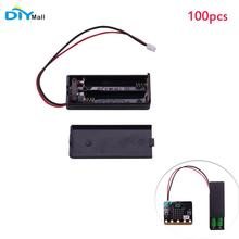 100pcs/lot Battry Case Holder Cover Shell 3V PH2.0 Interface14cm Cable for micro:bit 2pcs AAA Batteries DIYmall