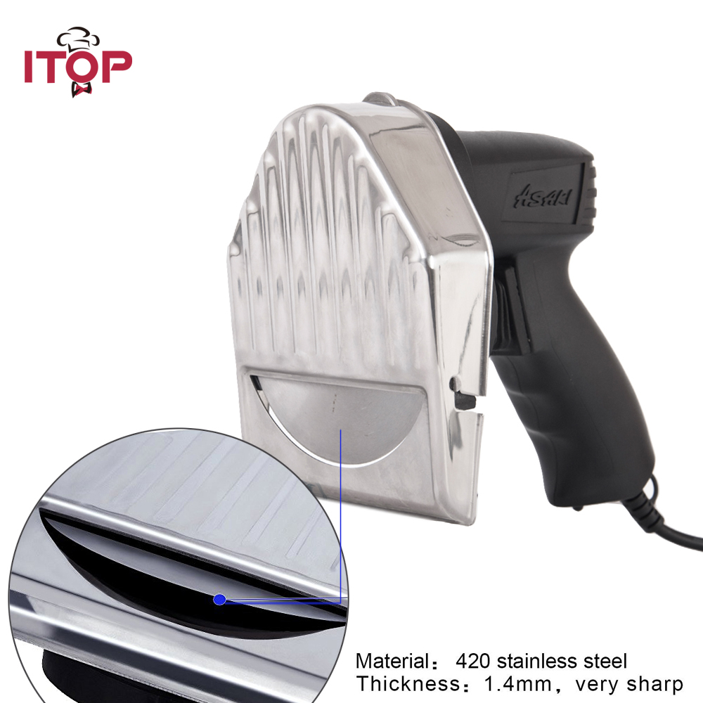 ITOP Electric Meat Slicer Shawarma Home Commercial Use Kebab Gyro Knife Professional Cutter 1pc hot sale 100%quality guaranteed doner kebab slicer two blades electrical kebab knife kebab shawarma gyros cutter