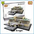 Г-н Froger LOZ Миниблок Imperial Hotel Популярные Архитектура Строительные Блоки Дом Модель Подарок Для Детей Игрушки Развивающие Создатель