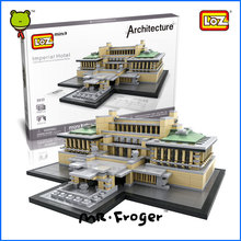 Mr.Froger LOZ Imperial Hotel Mini Block World Famous Architecture Series Minifigures Building Blocks Classic Toys Children Model